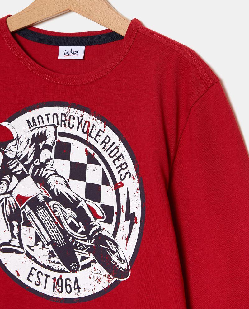 T-shirt con stampa moto ragazzo