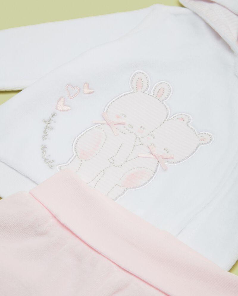 Completino morbido con cappuccio neonata