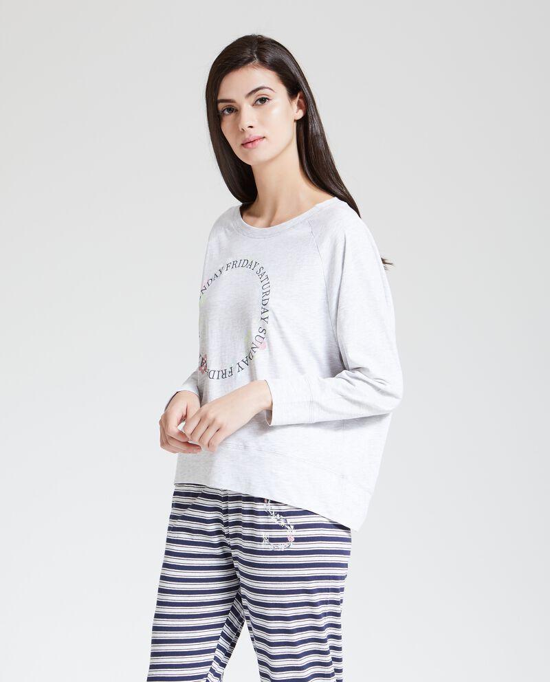 Maglia del pigiama stampata donna