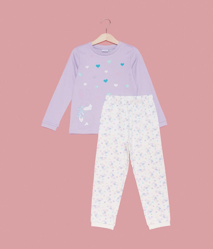 Set pigiama t-shirt e pantaloni fantasia bambina