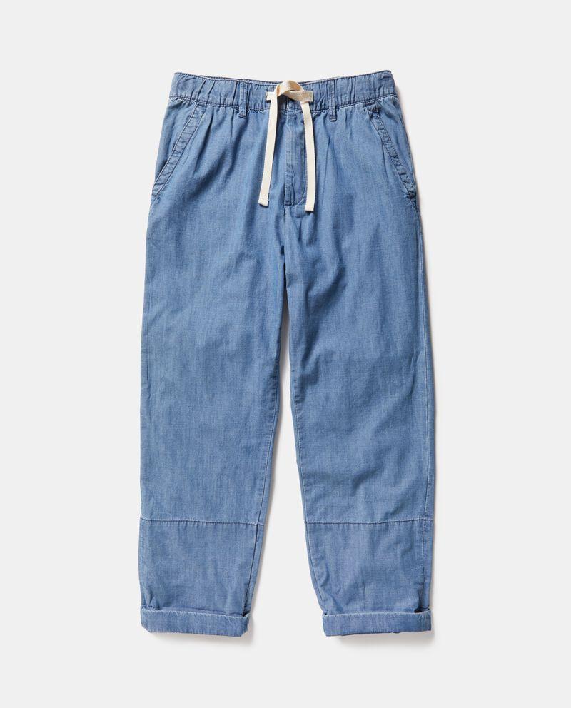Jeans loose in puro cotone uomo