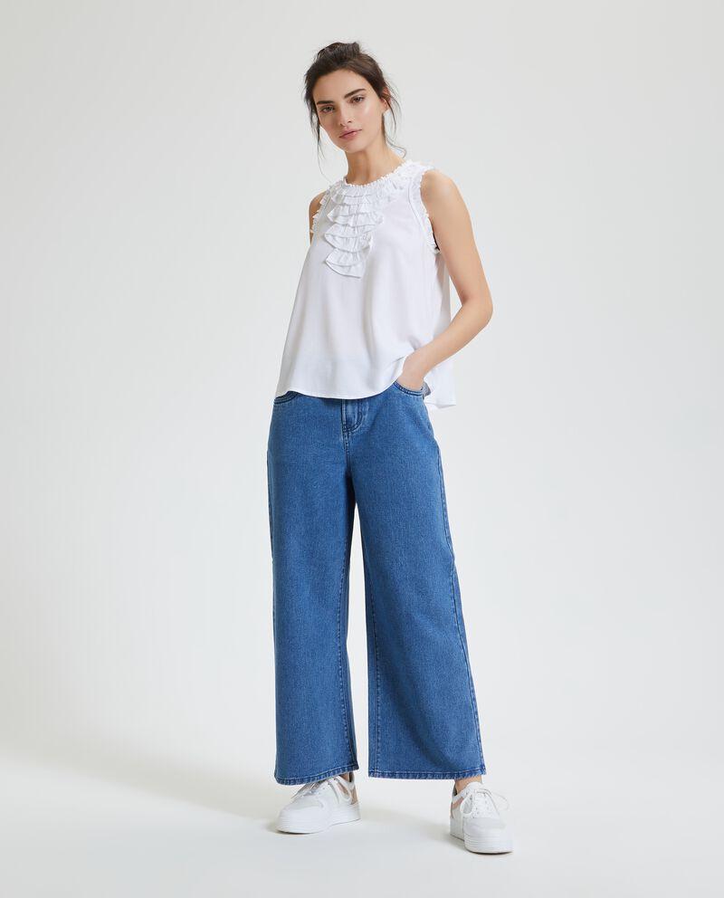 Jeans culotte donna