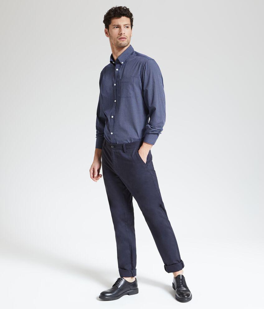 Pantaloni puro cotone in tinta unita uomo