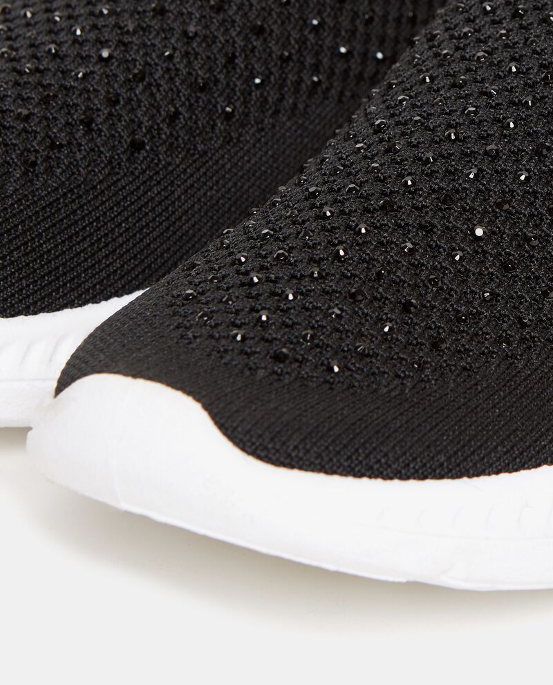 Sneakers calzetto con strass donna