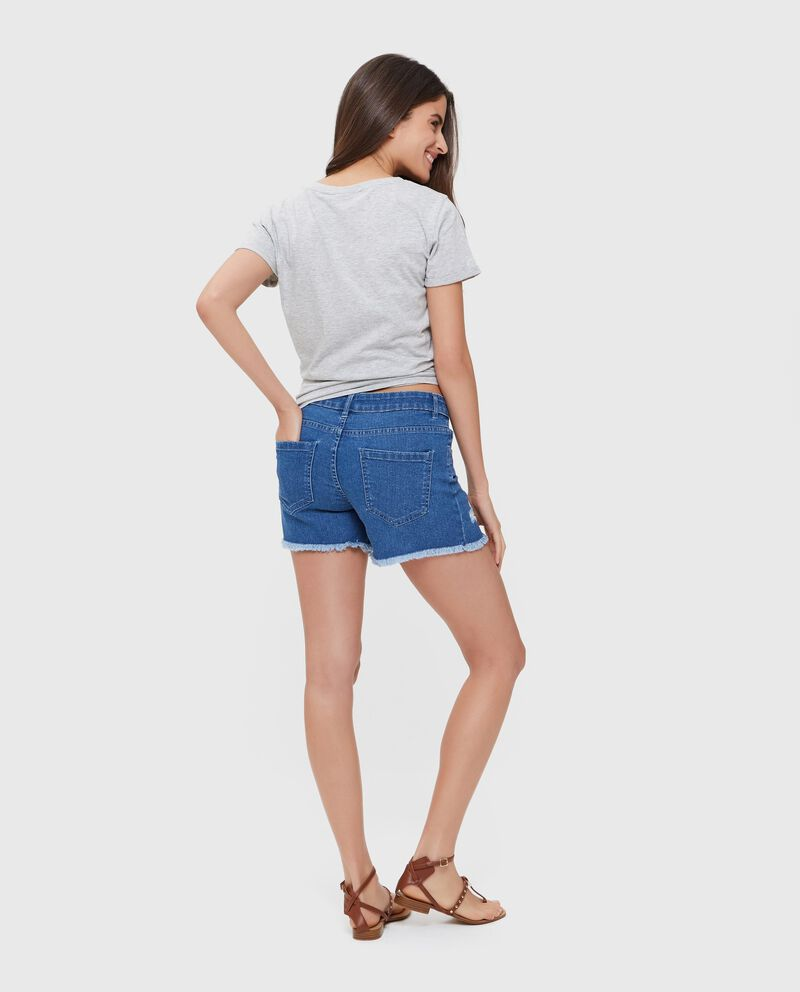 Shorts donna jeans in cotone