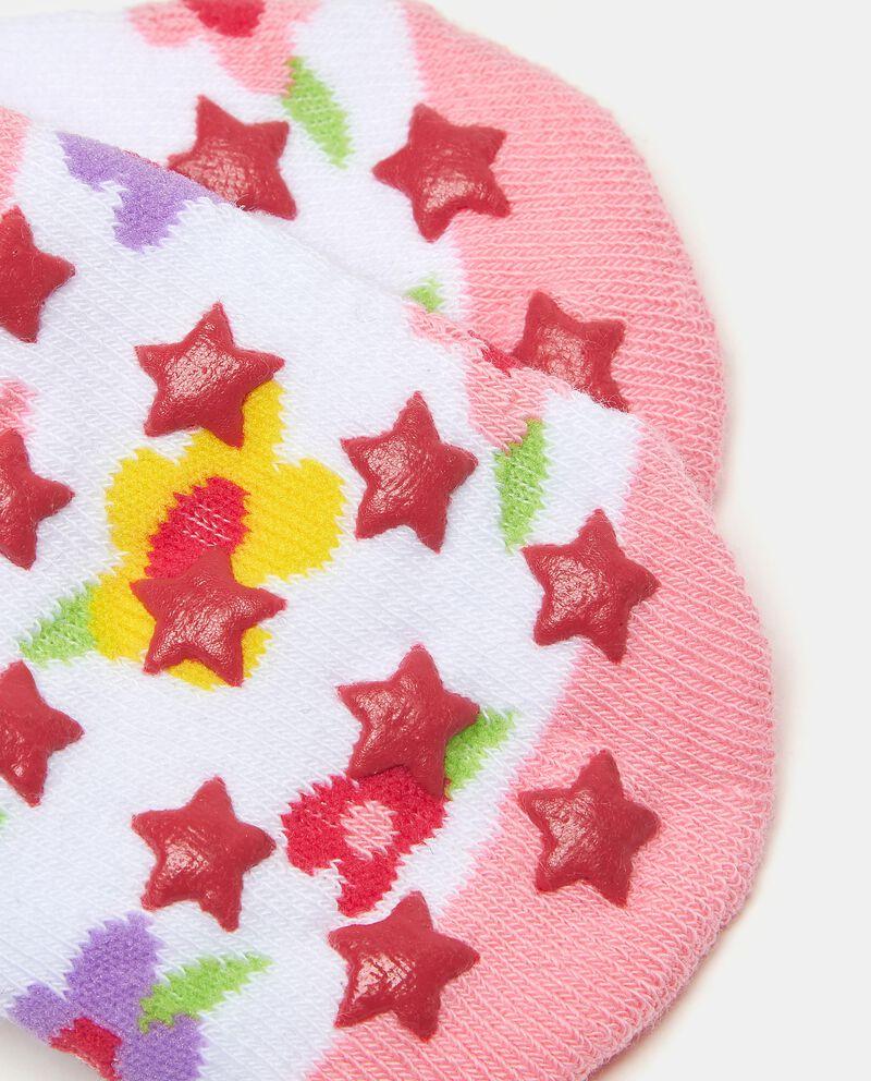 Calzini in fantasia di cotone elasticato neonatadouble bordered 1