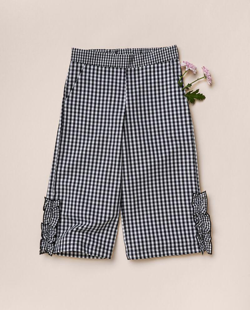 Pantaloni a quadri in popeline di cotone MADE IN ITALY
