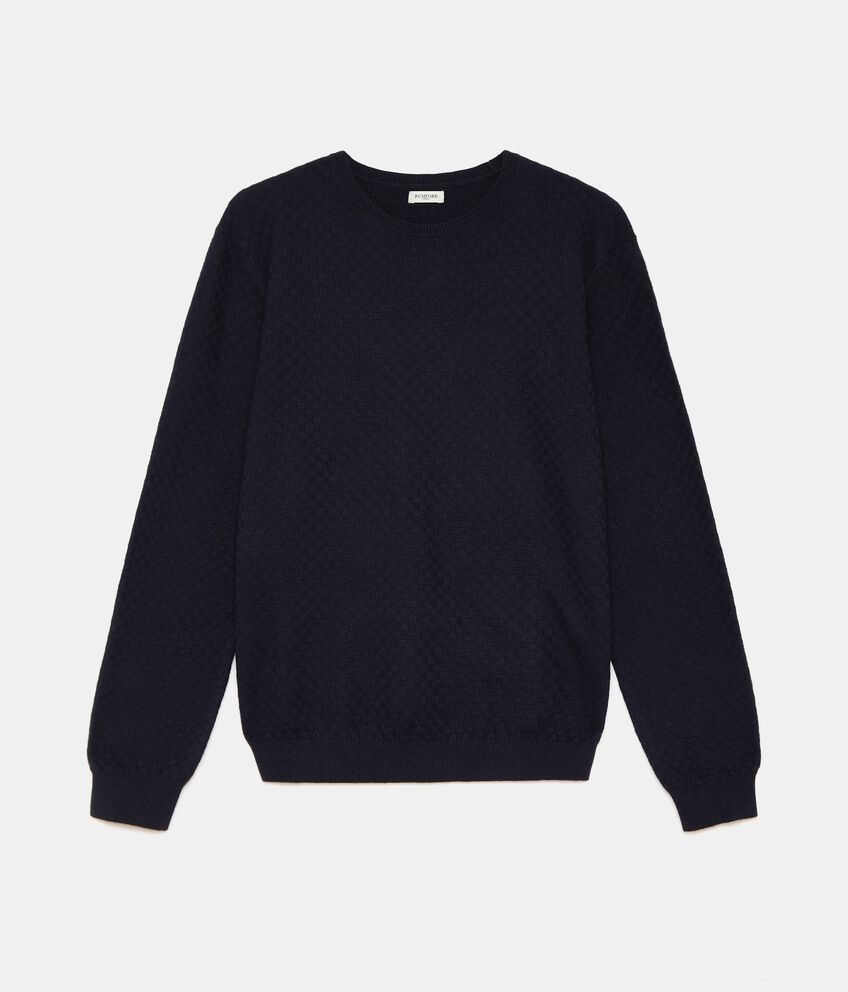 Pullover tricot in misto cashmere uomo double 1