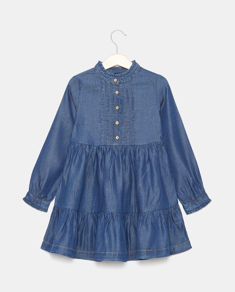 Vestito in lyocell con borchiette bambina cover
