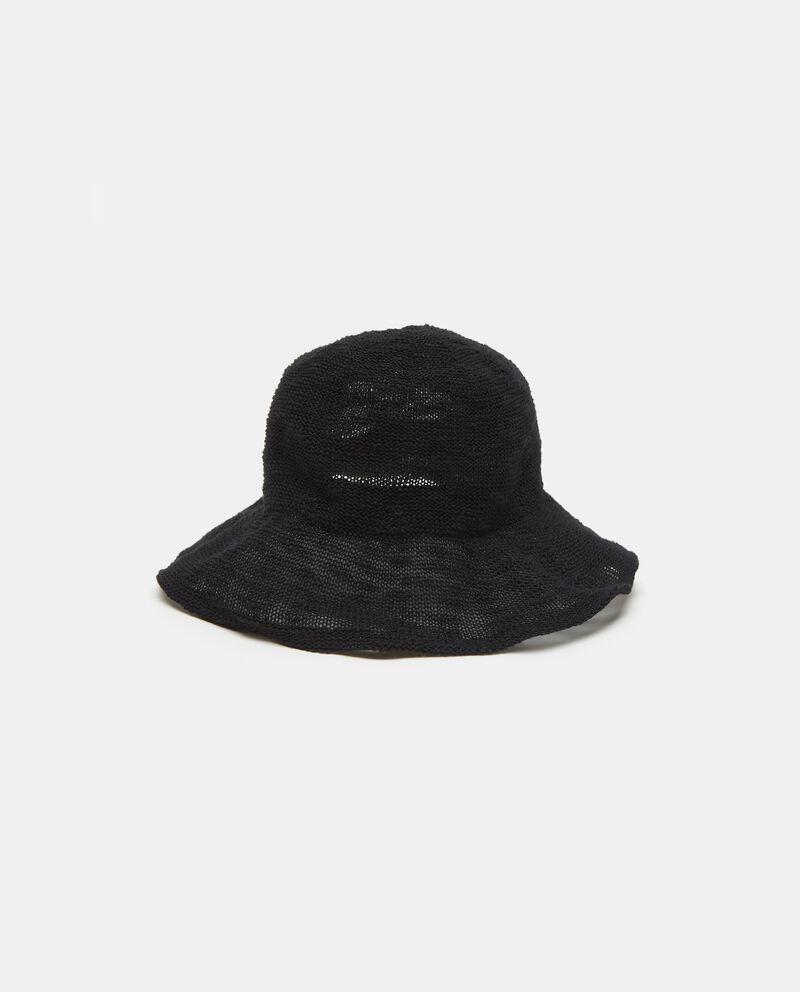 Cappello morbido in tinta unita nera donna