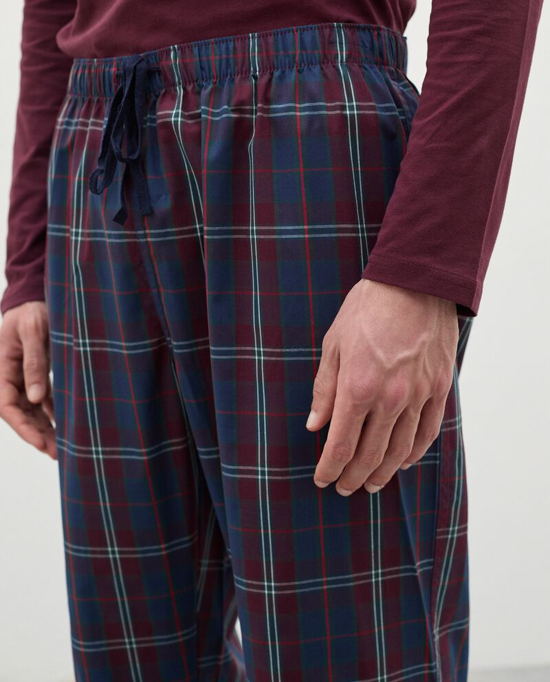Pantaloni del pigiama a quadri in cotone uomodouble bordered 2