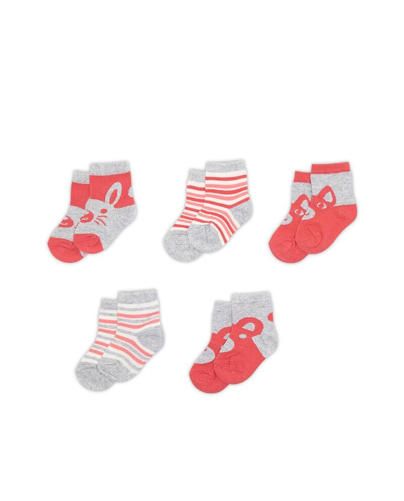 Set cinque paia di calze animaletti
