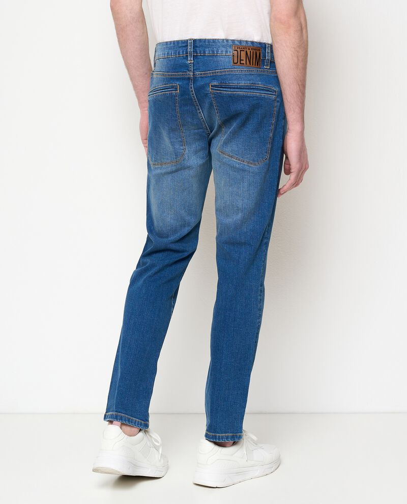 Jeans slim fit in cotone stretch uomo