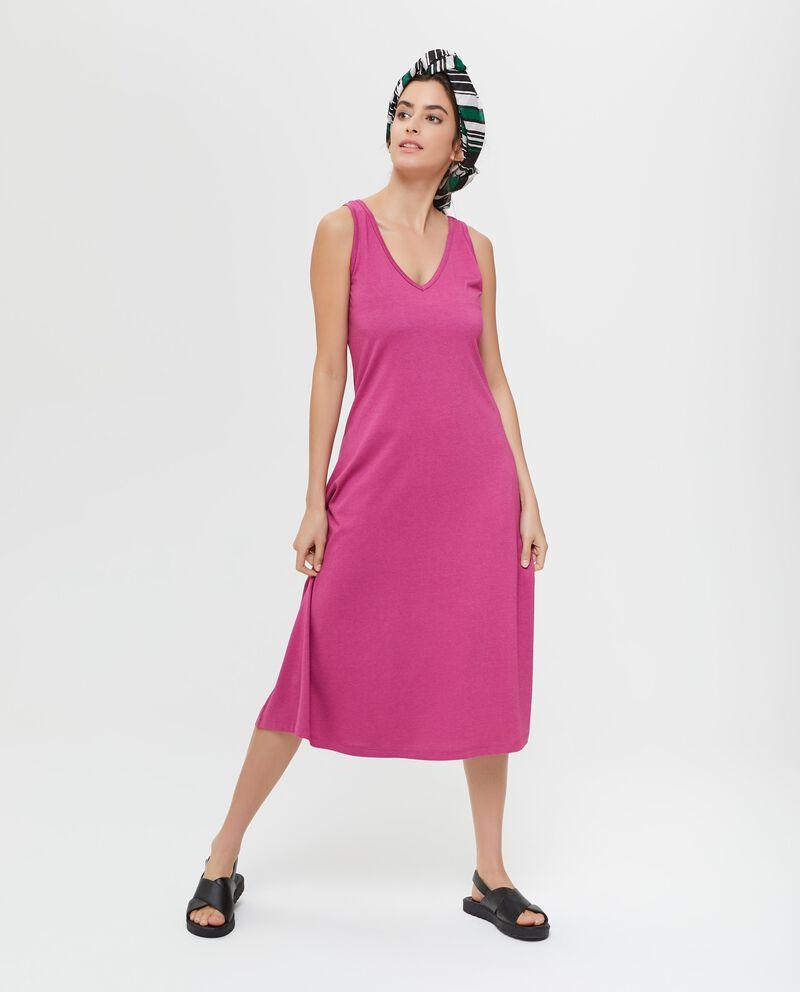 Vestito smanicato in cotone donna