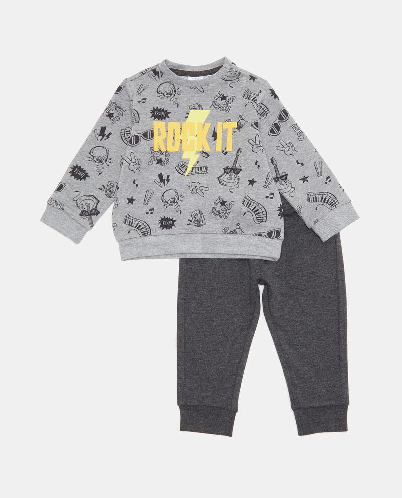Set con maglia e pantaloni neonatodouble bordered 0