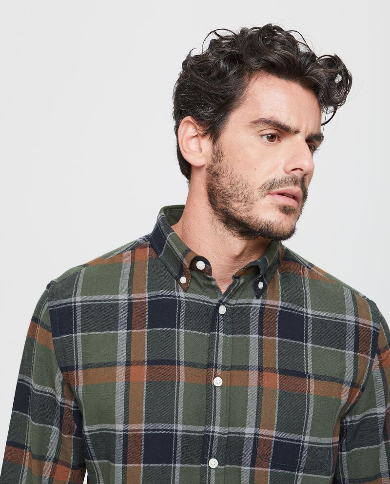Camicia casual in cotone a quadri