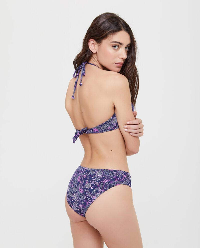 Top Bikini con fantasia arabesque