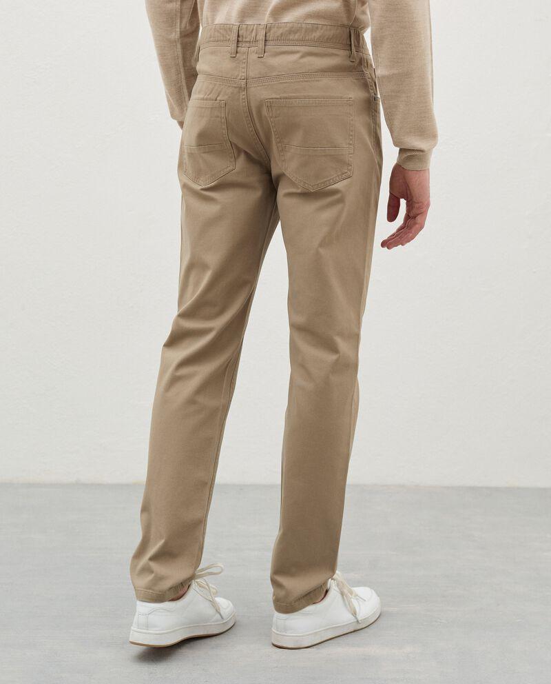 Pantaloni slim cinque tasche di puro cotone uomodouble bordered 1