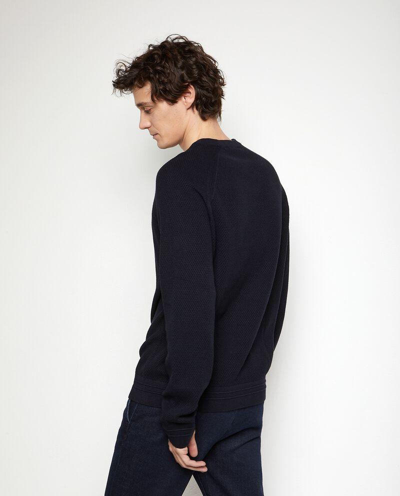 Maglione tricot in puro cotone uomo