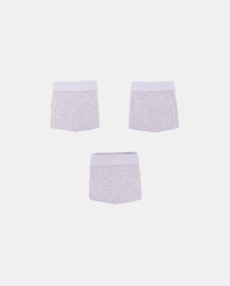 Pack con 3 boxer di cotone organico uomodouble bordered 0