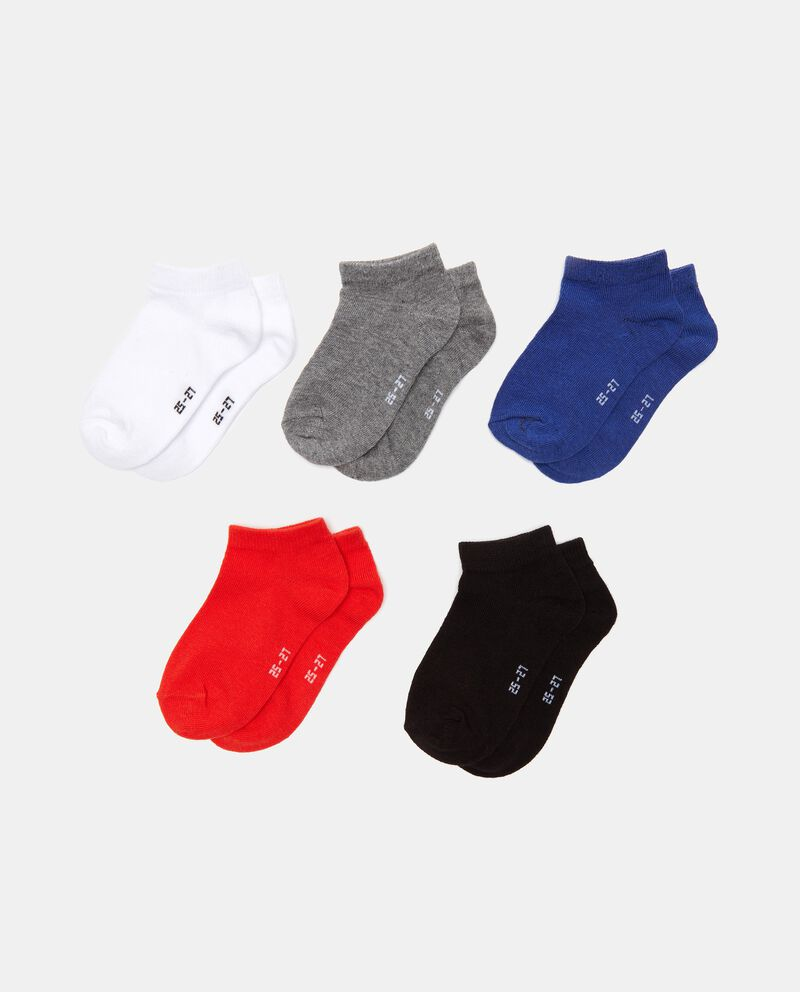 Set con 5 paia di calzini corti in cotone stretch bambino cover