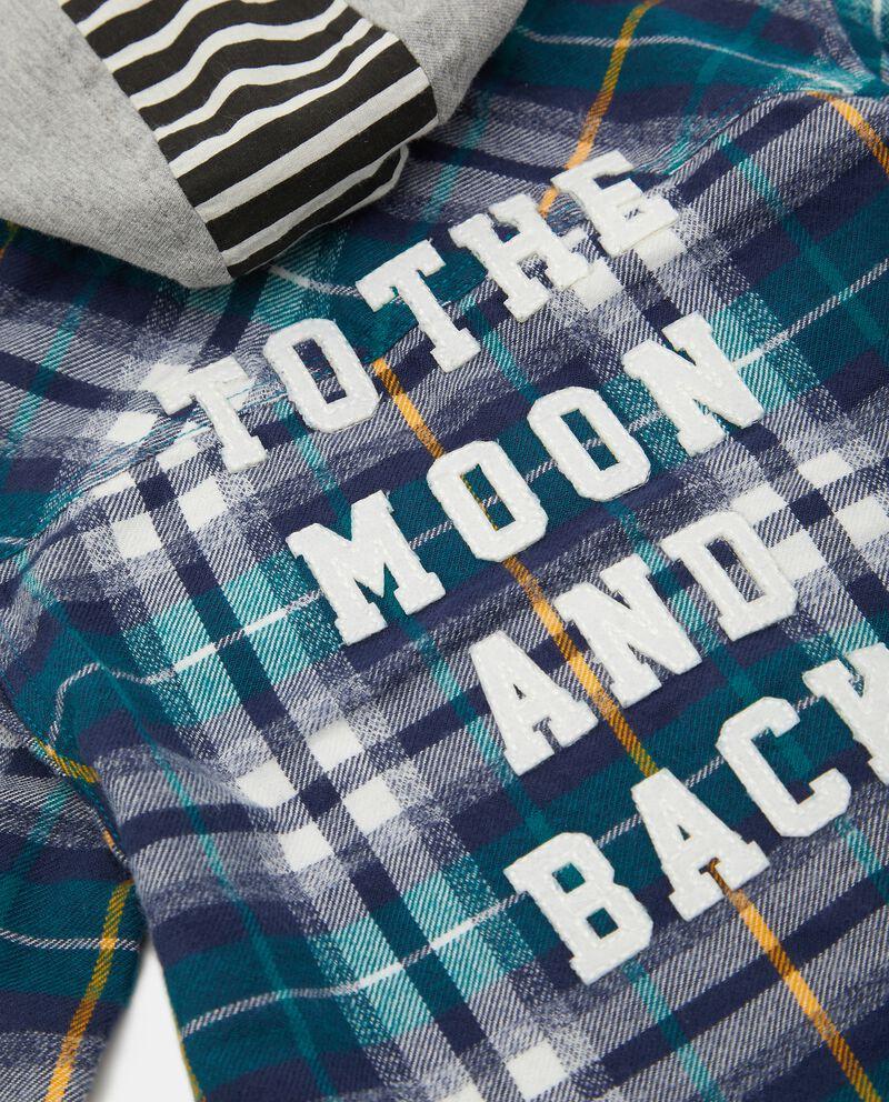 Camicia in flanella tinto filo check neonato single tile 1