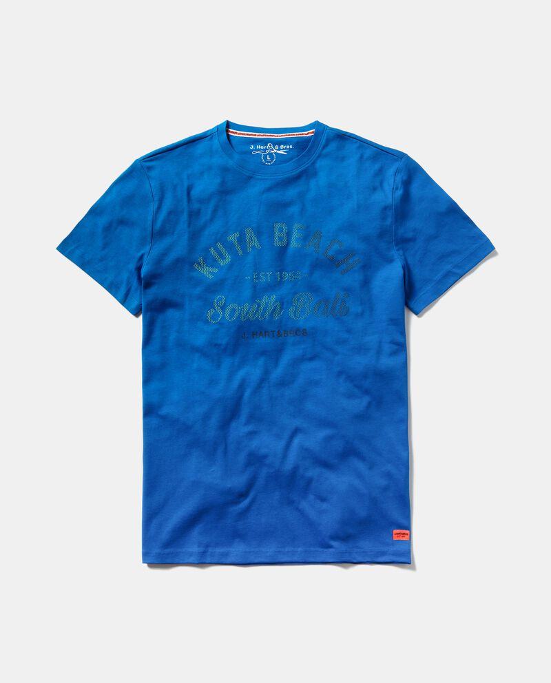T-shirt in puro cotone con lettering uomo cover