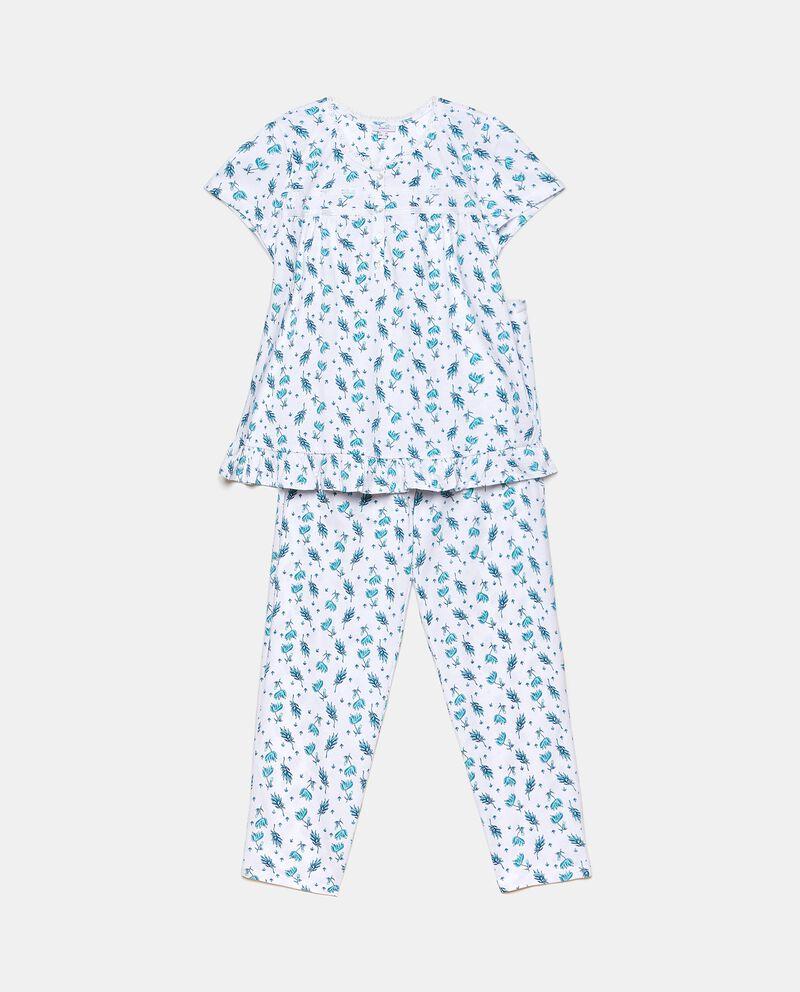 Set pigiama in fantasia di puro cotone donna