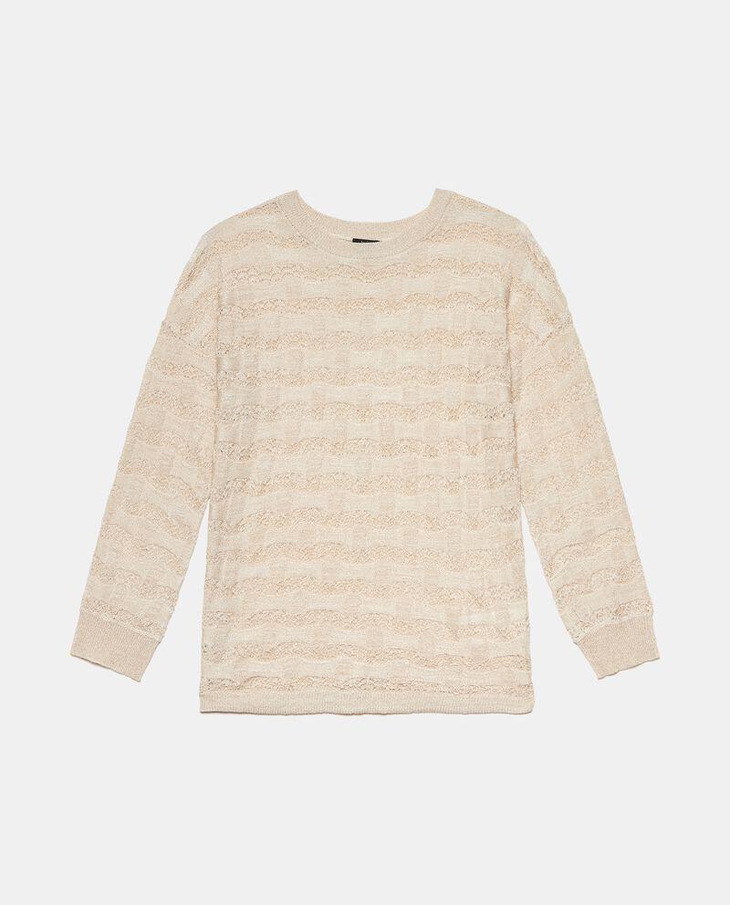 Maglia tricot lavorata in viscosa stretch donna