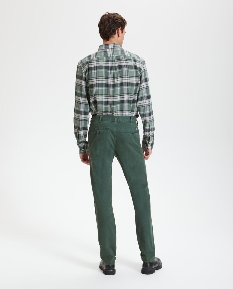 Pantaloni chino in tinta unita
