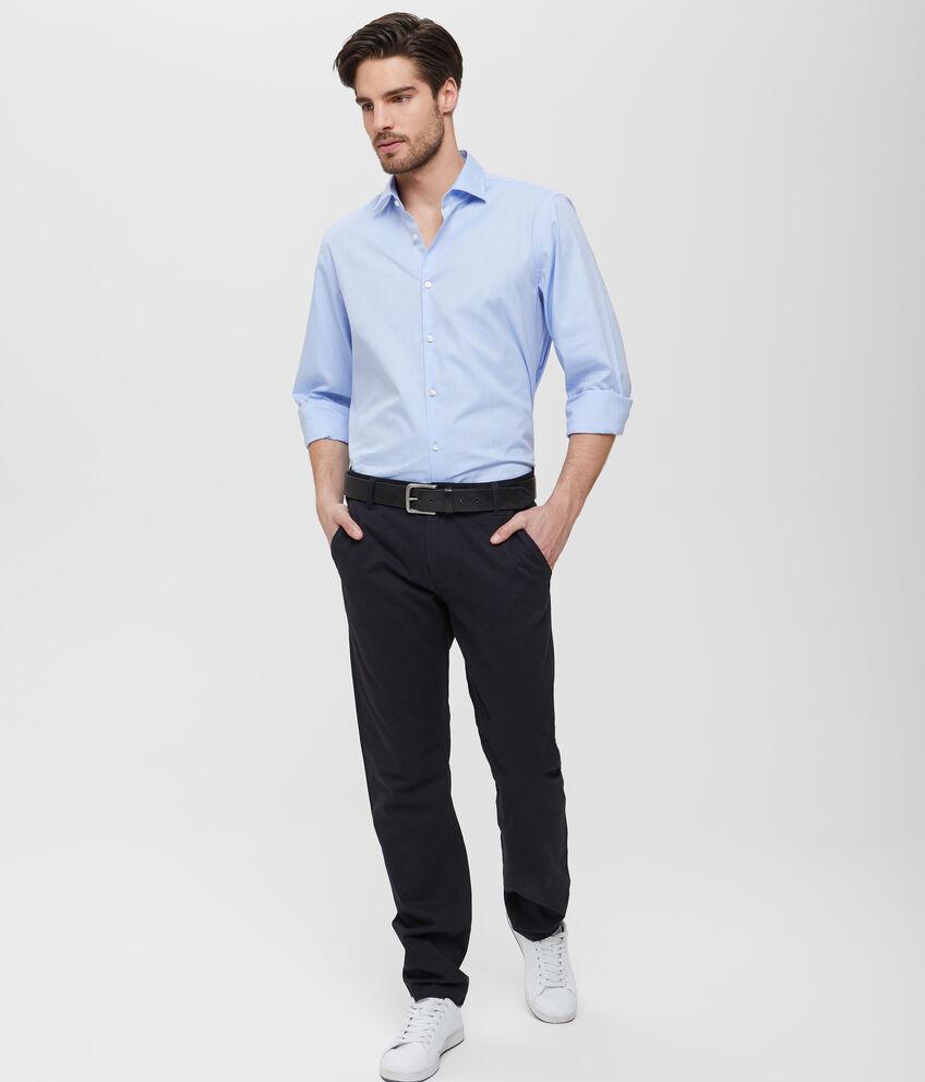 Pantaloni neri in cotone a tinta unita uomo