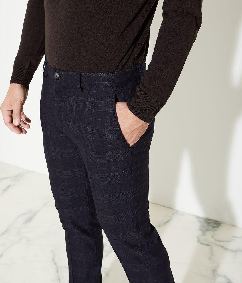 Pantaloni con motivo principe di galles uomo