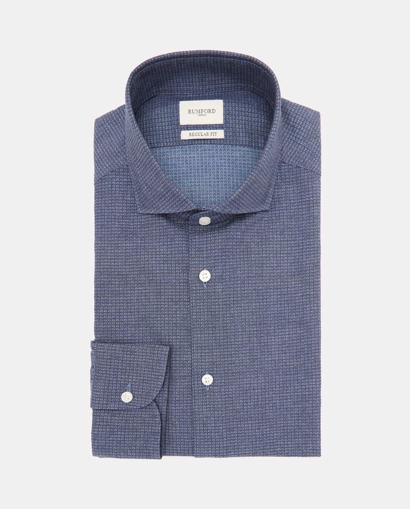 Camicia in micro fantasia di puro cotone uomo cover