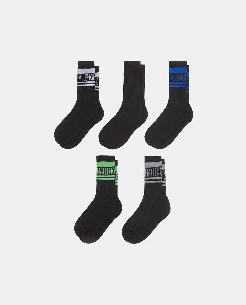 Set con cinque paia di calzini in spugna uomo