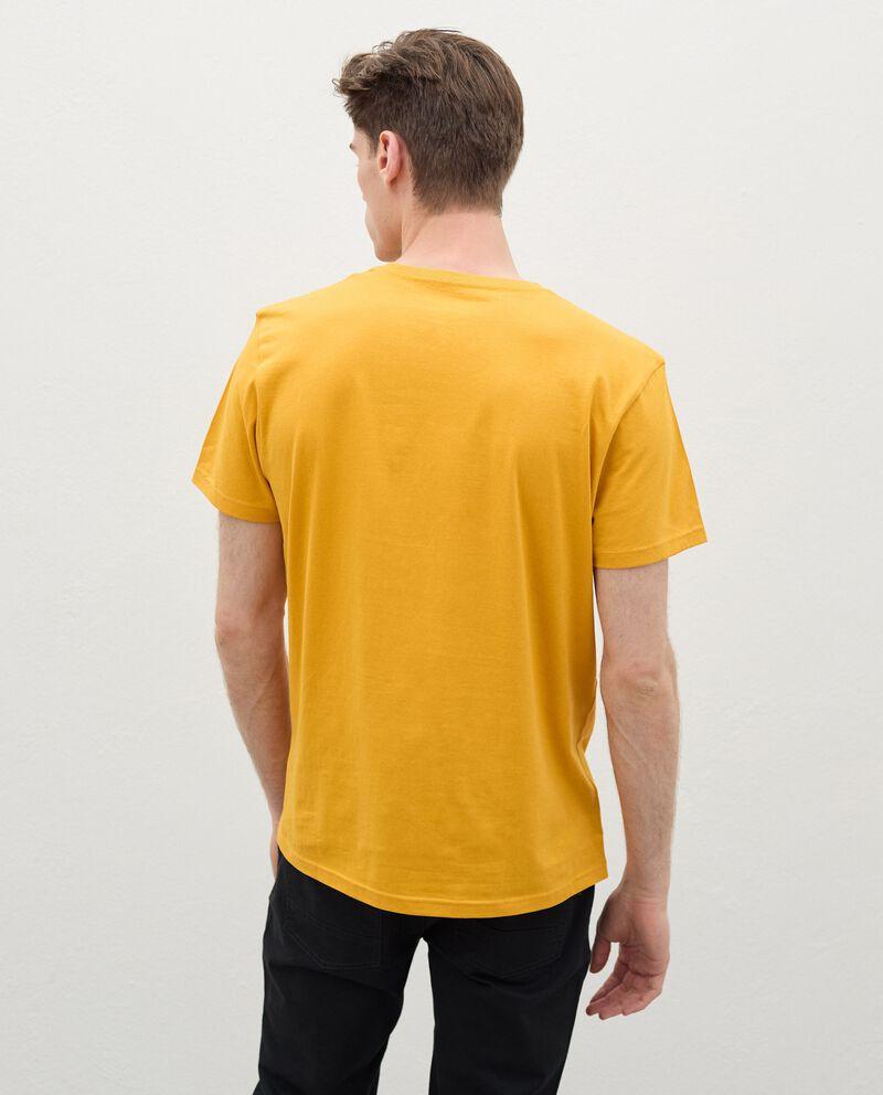 T-shirt con stampa di cotone organico uomodouble bordered 1