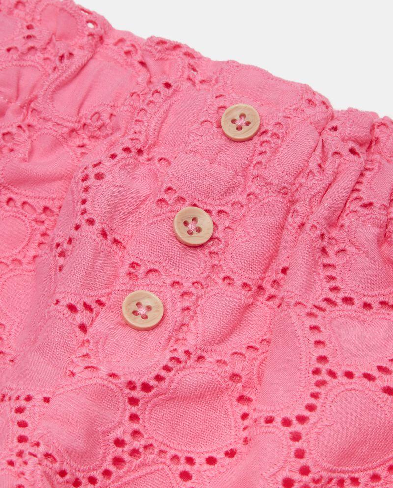 Shorts sangallo di cotone organico neonata