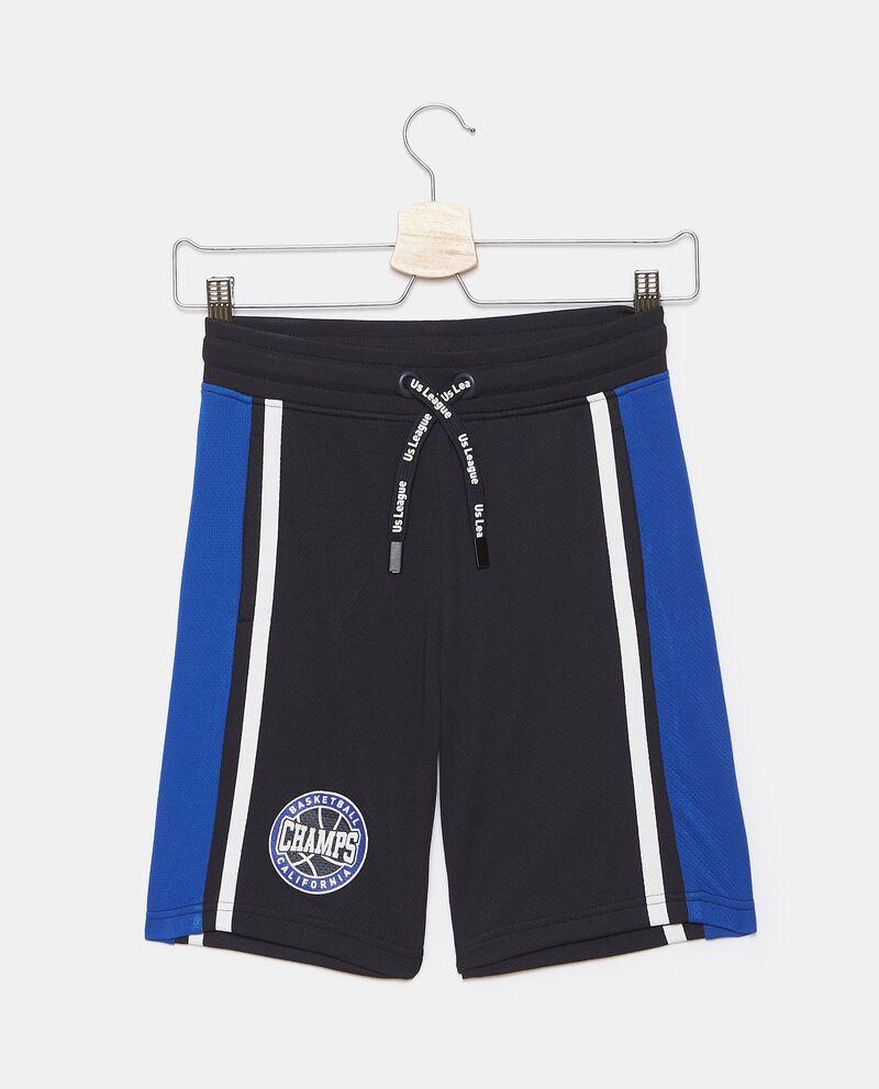 Shorts in rete con inserti a contrasto ragazzodouble bordered 0