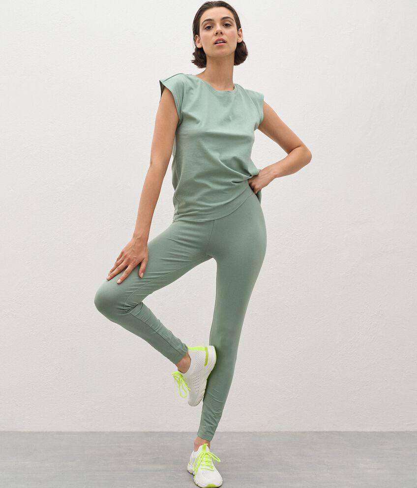 Leggings Fitness in cotone organico donna double 1