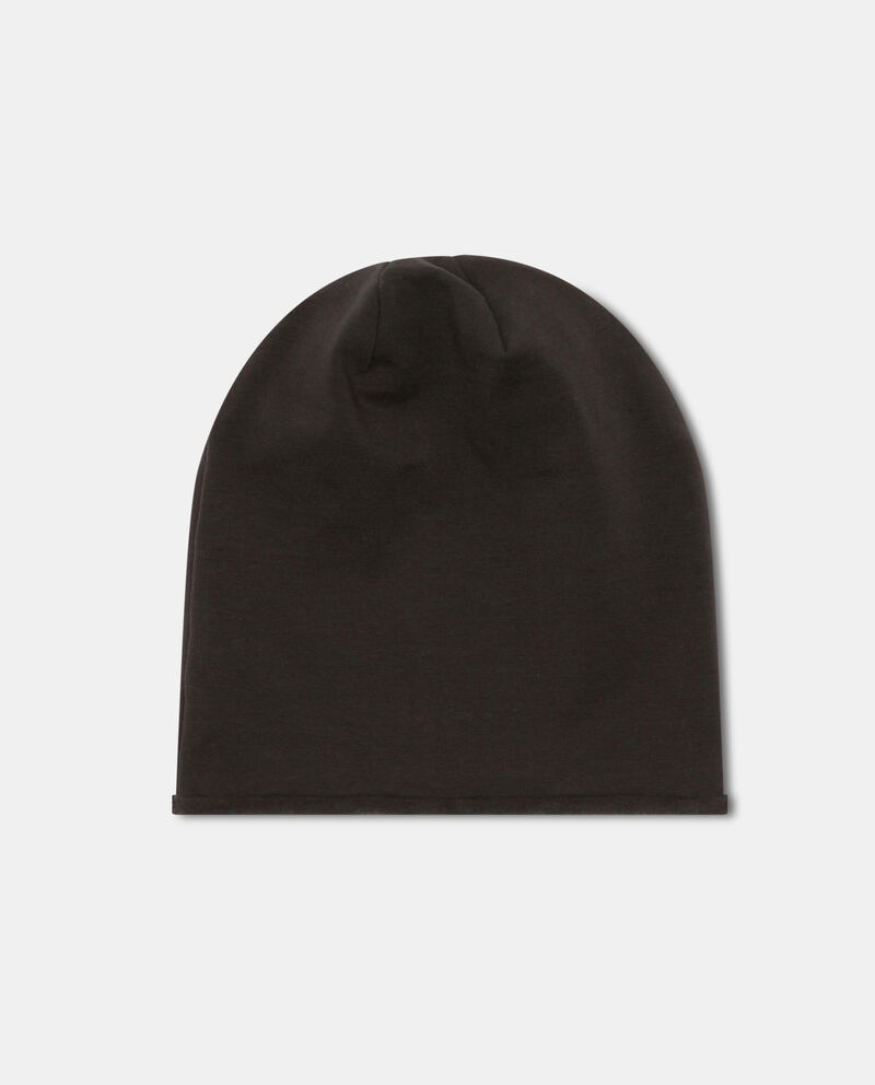 Cappello a cuffia stretch con patch