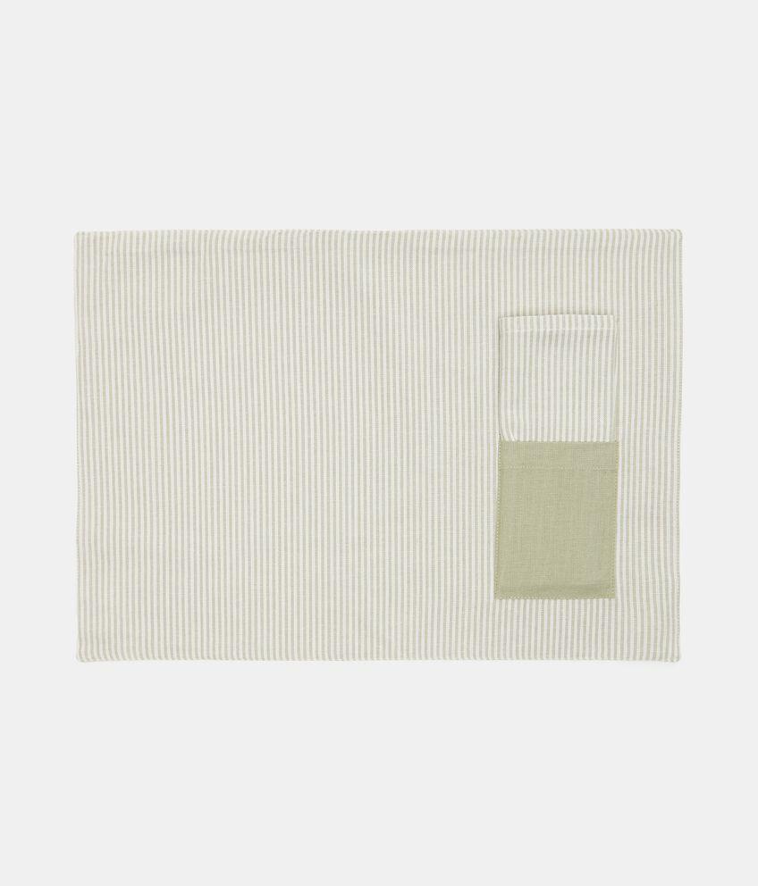 Tovaglietta bio in puro cotone con taschino