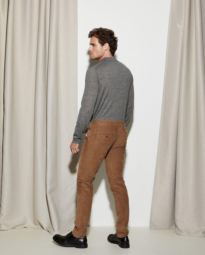 Pantaloni a coste con effetto velluto slim fit uomo