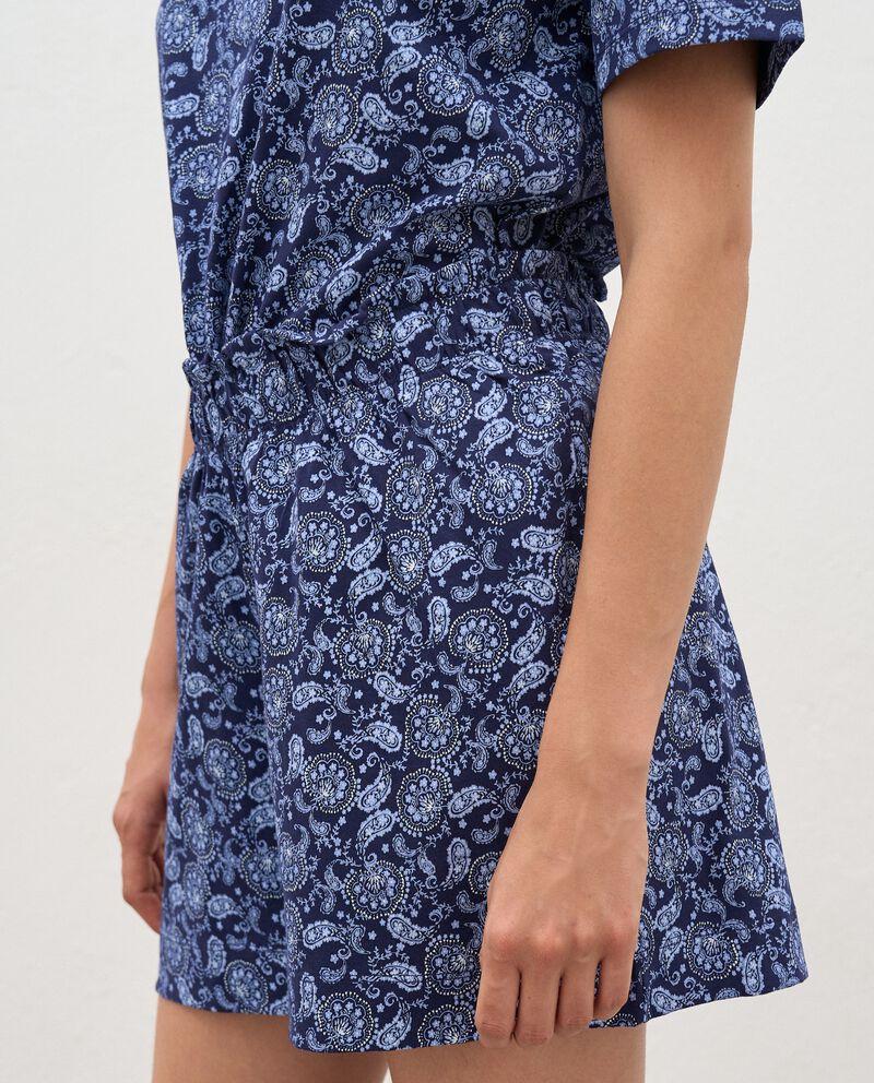 Bermuda pigiama stampati in puro cotone donna single tile 2