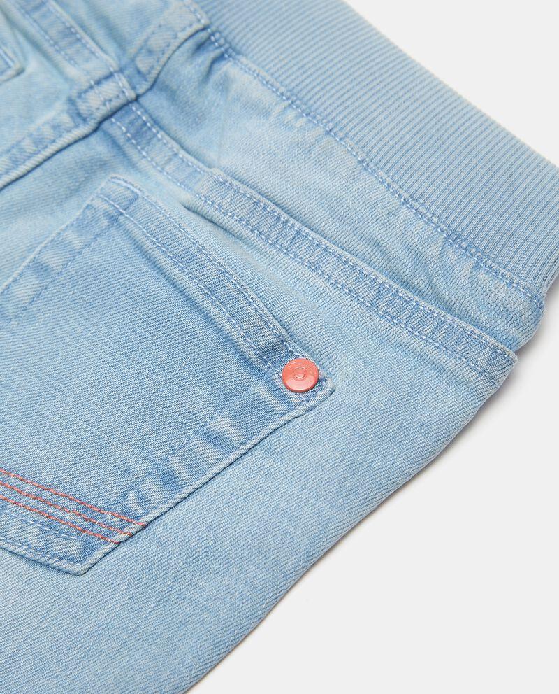 Shorts denim con vita elasticizzata neonato single tile 1