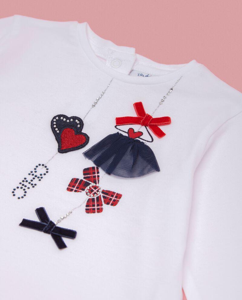 T-shirt con applicazioni neonata