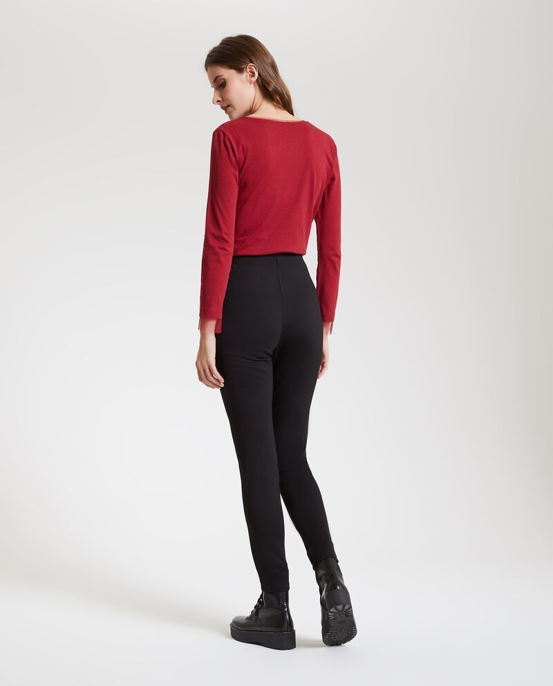 Leggings in tinta unita donna