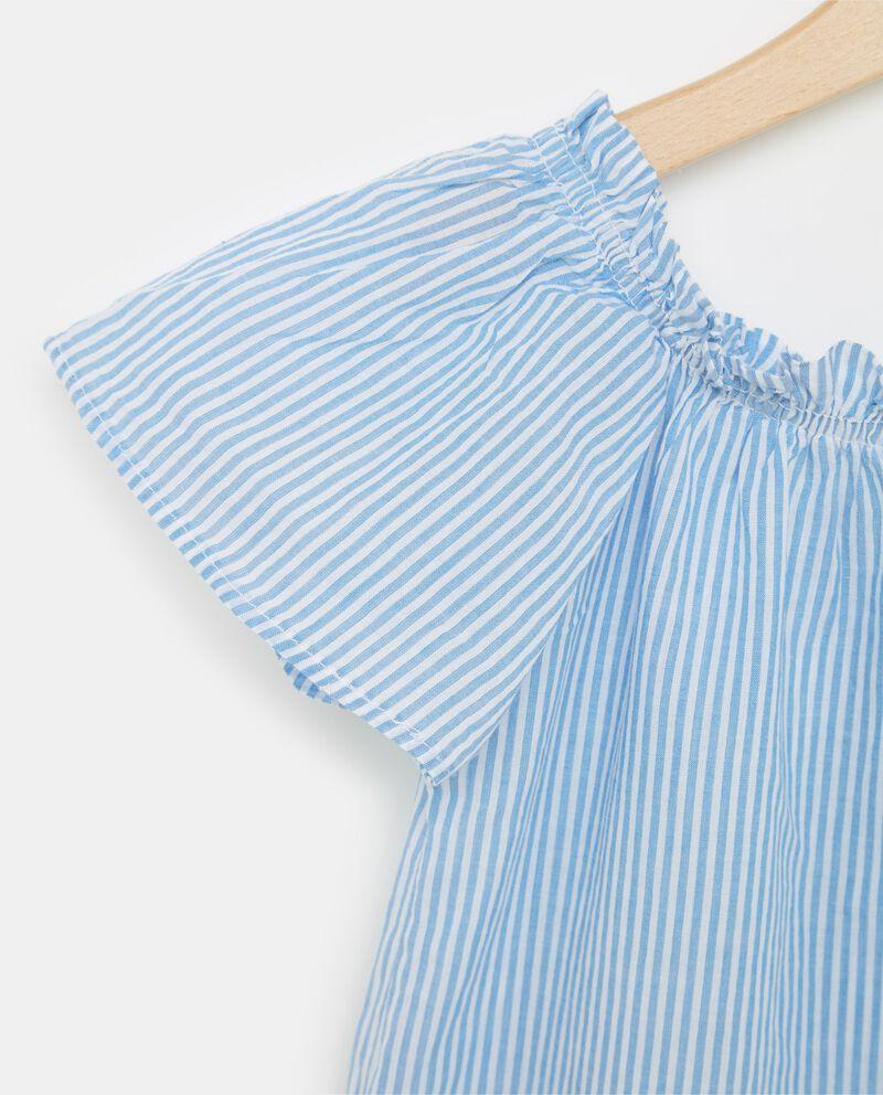 T-shirt in puro cotone con scollo arricciato ragazza