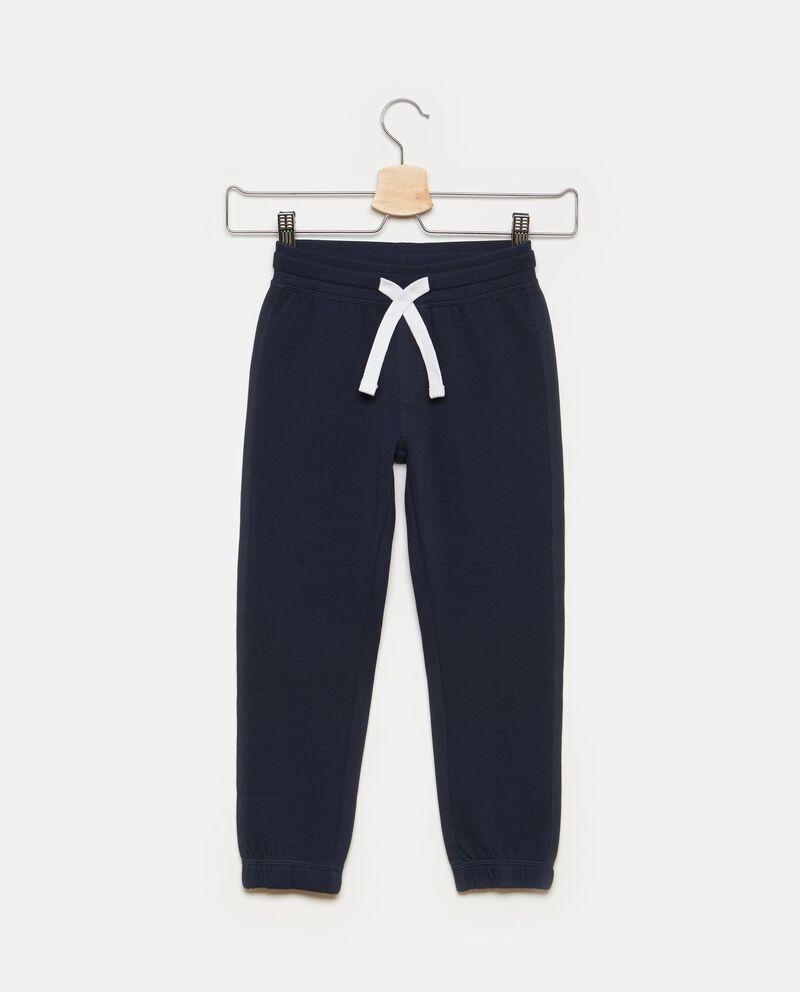 Pantaloni tinta unita caviglie elasticate