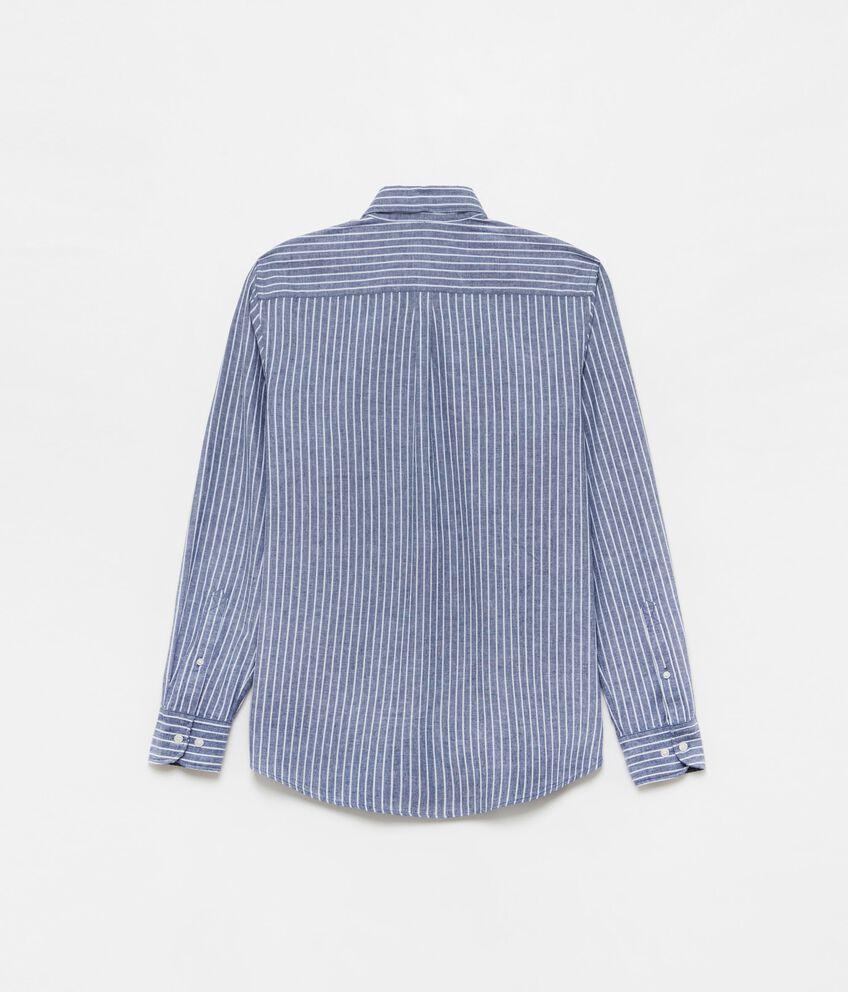 Camicia cotone e lino button-down double 2