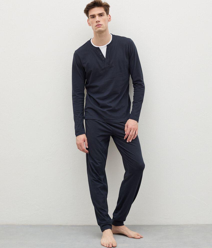 Pantaloni del pigiama di puro cotone uomo double 1
