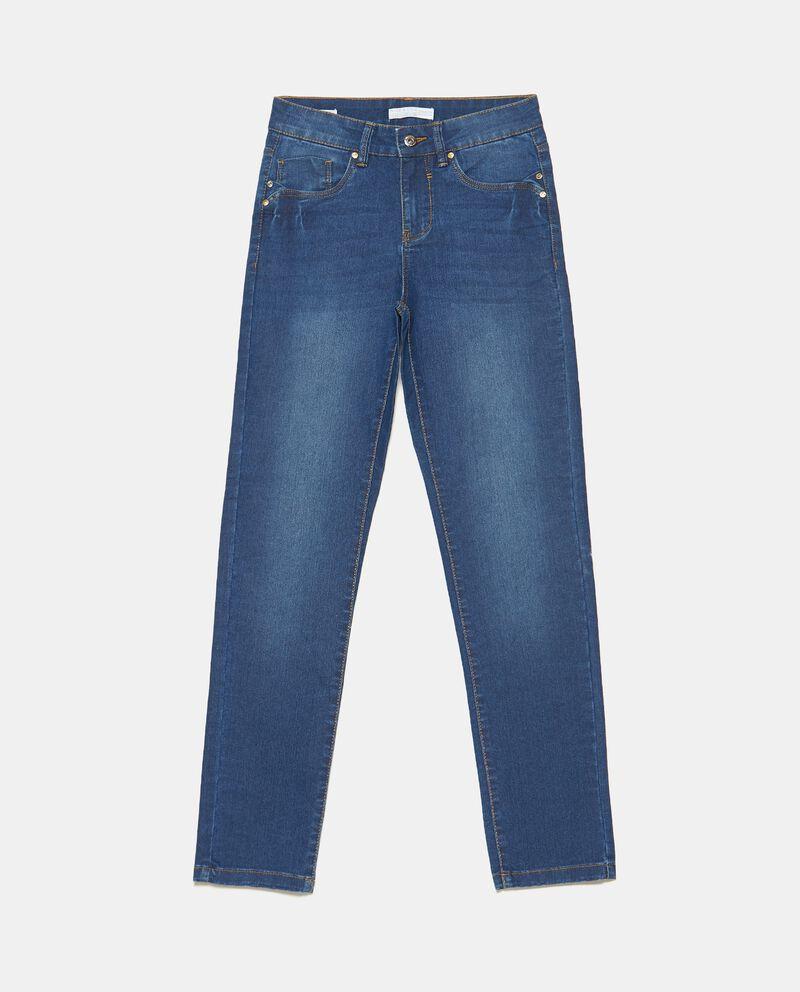 Jeans slim fit in cotone elasticizzato donnadouble bordered 0